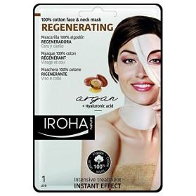 Maschera 100% cotone rigenerante per viso e collo Iroha nature