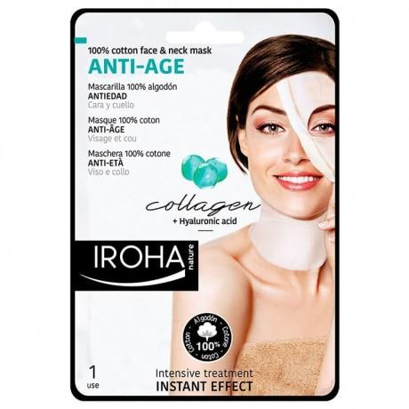 Maschera 100% cotone Anti-età viso e collo Iroha nature