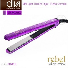 Diva Rebel Collection Mini Titanium Styler Purple SUK280
