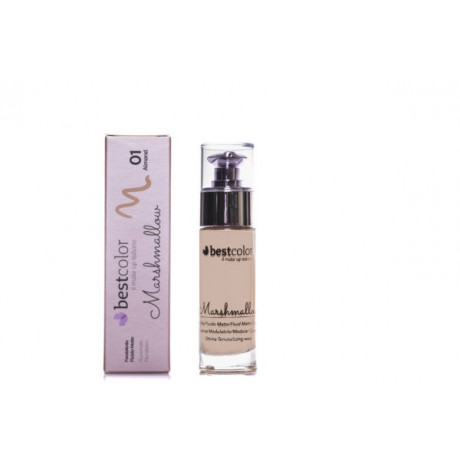 Best Color Fondotinta Fluido Matte Marshmallow 01 Almond 30 ml