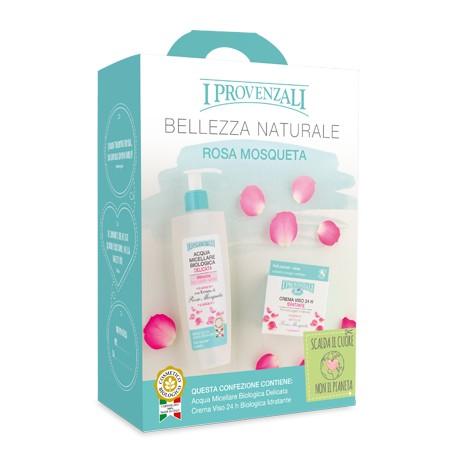 I Provenzali Rosa Mosqueta Confezione Acqua Micellare Biologica + Crema Viso Idratante