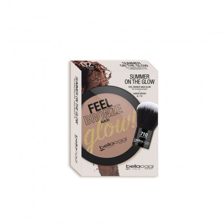 Bellaoggi Feel Bronze Maxi Glow! + Pennello Kabuki Brush N°710 Ipanema Beach 02