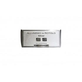 Mp Hair Alluminio in rotolo Silver 80 metri H 12 cm