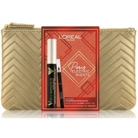 L'Orèal Paris Electric Nights Mascara Voluminous Extra-Black Cofanetto